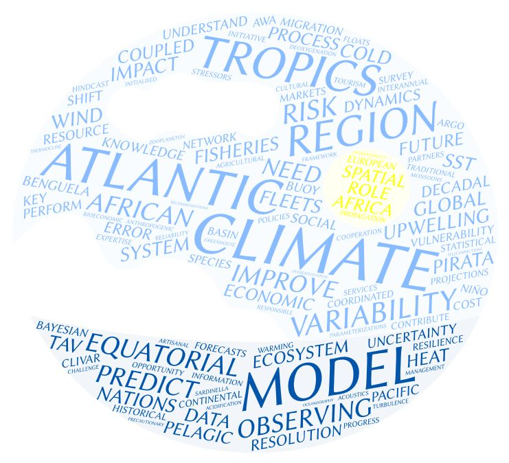 Word cloud generated from project description. Credit: Wordle TM